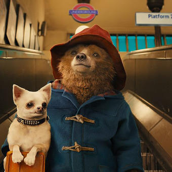 animated pic animals in London tube