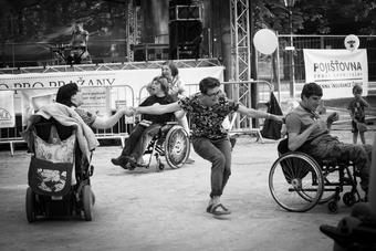 Dancing on wheelchair
